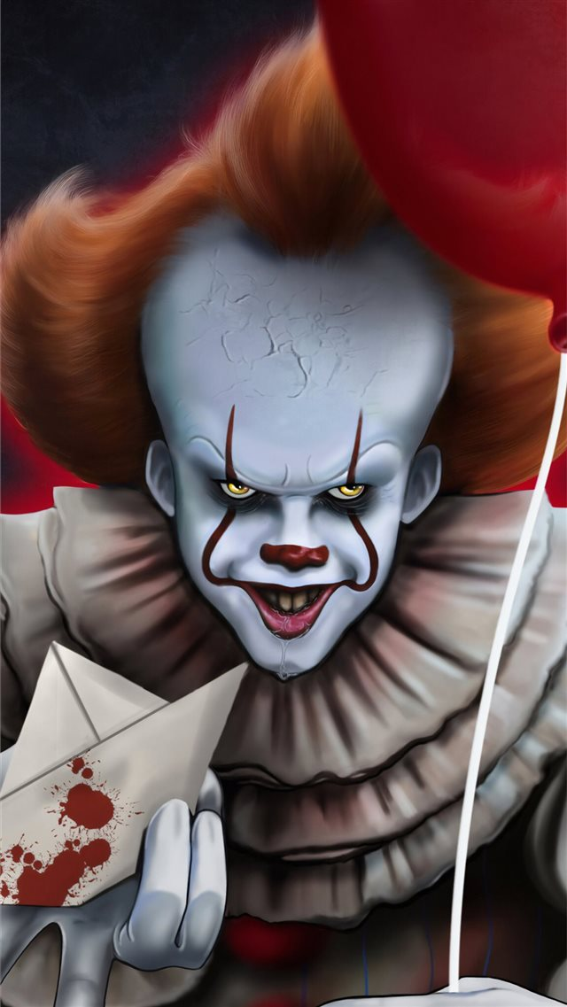it chapter two 2019 4k pennywise art iPhone 8 wallpaper