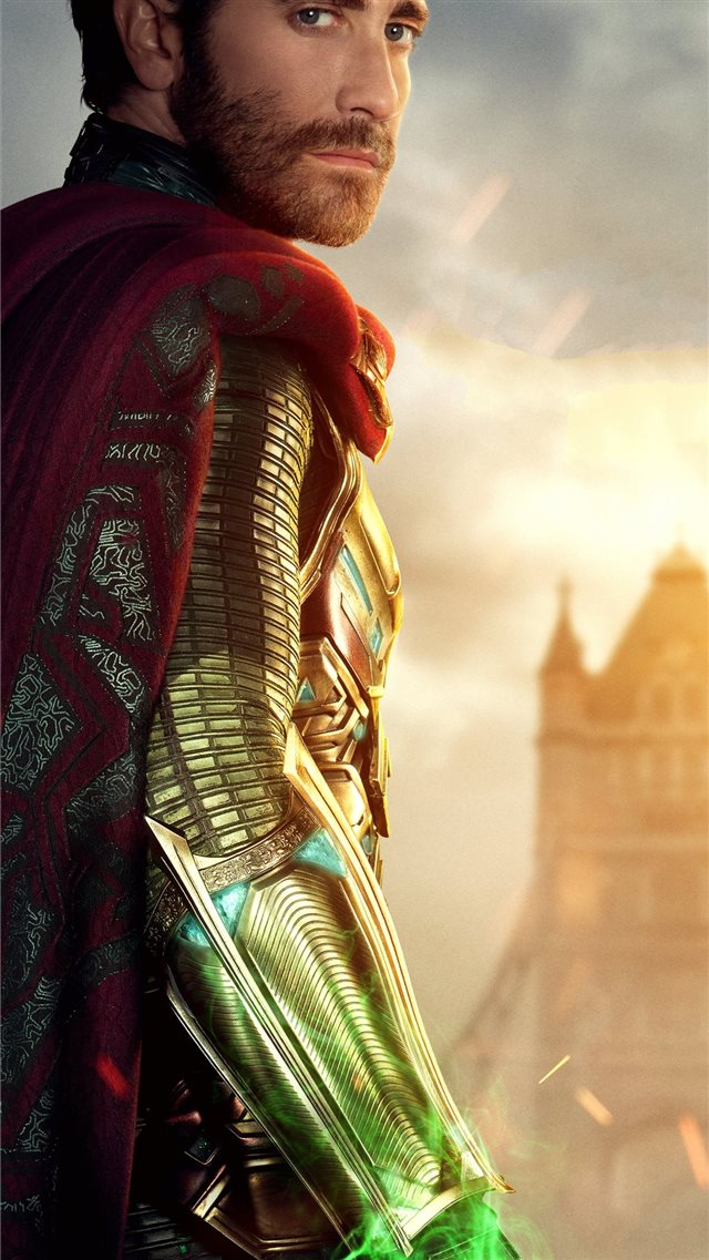 jake gyllenhaal as mysterio in spider man far from... iPhone SE wallpaper