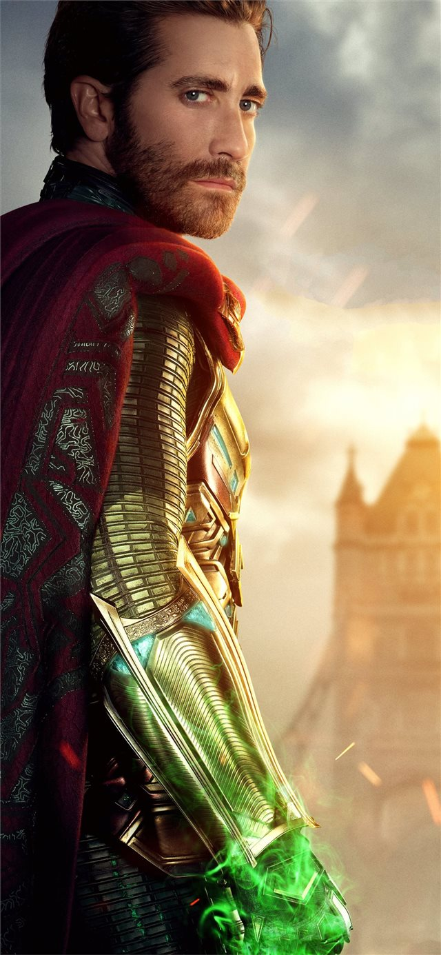jake gyllenhaal as mysterio in spider man far from... iPhone X wallpaper