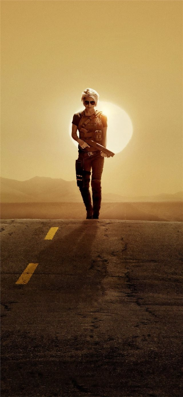 linda hamilton in terminator dark fate 2019 iPhone X wallpaper