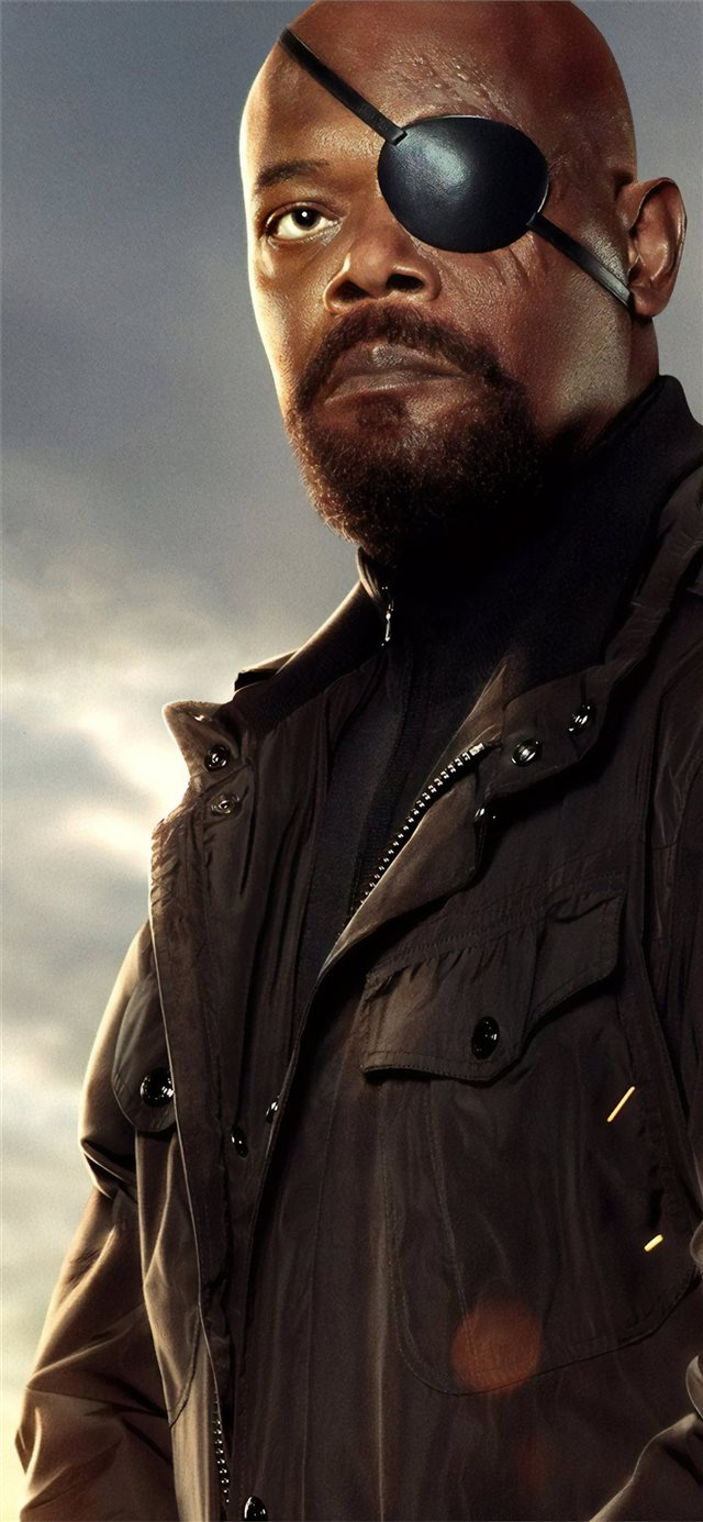 samuel l jackson as nick fury in spider man far fr... iPhone X wallpaper
