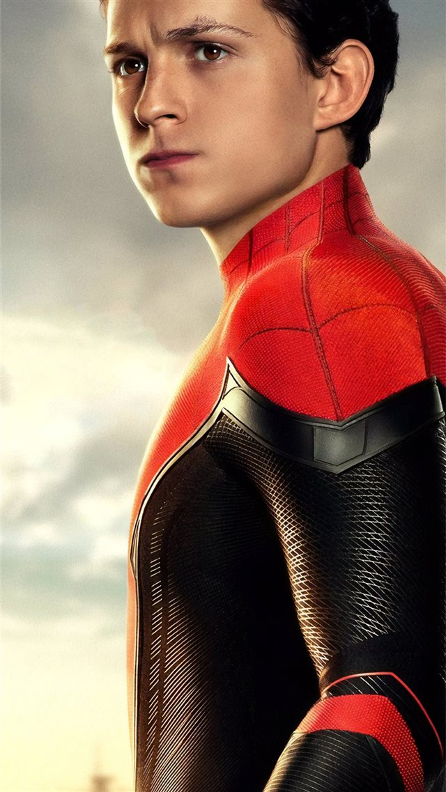 tom holland as peter parker spider man far from ho... iPhone 8 wallpaper