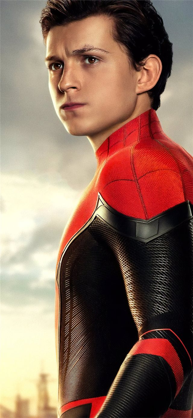 tom holland as peter parker spider man far from ho... iPhone 11 wallpaper
