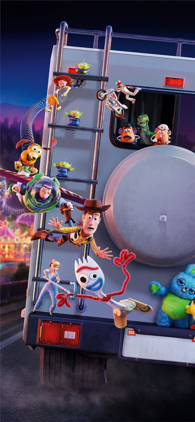 toy story 4 5k iPhone X wallpaper