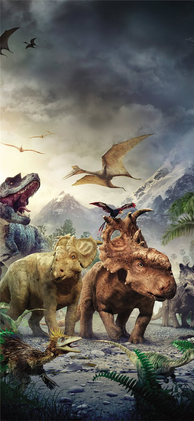 walking with the dinosaurs iPhone 11 wallpaper