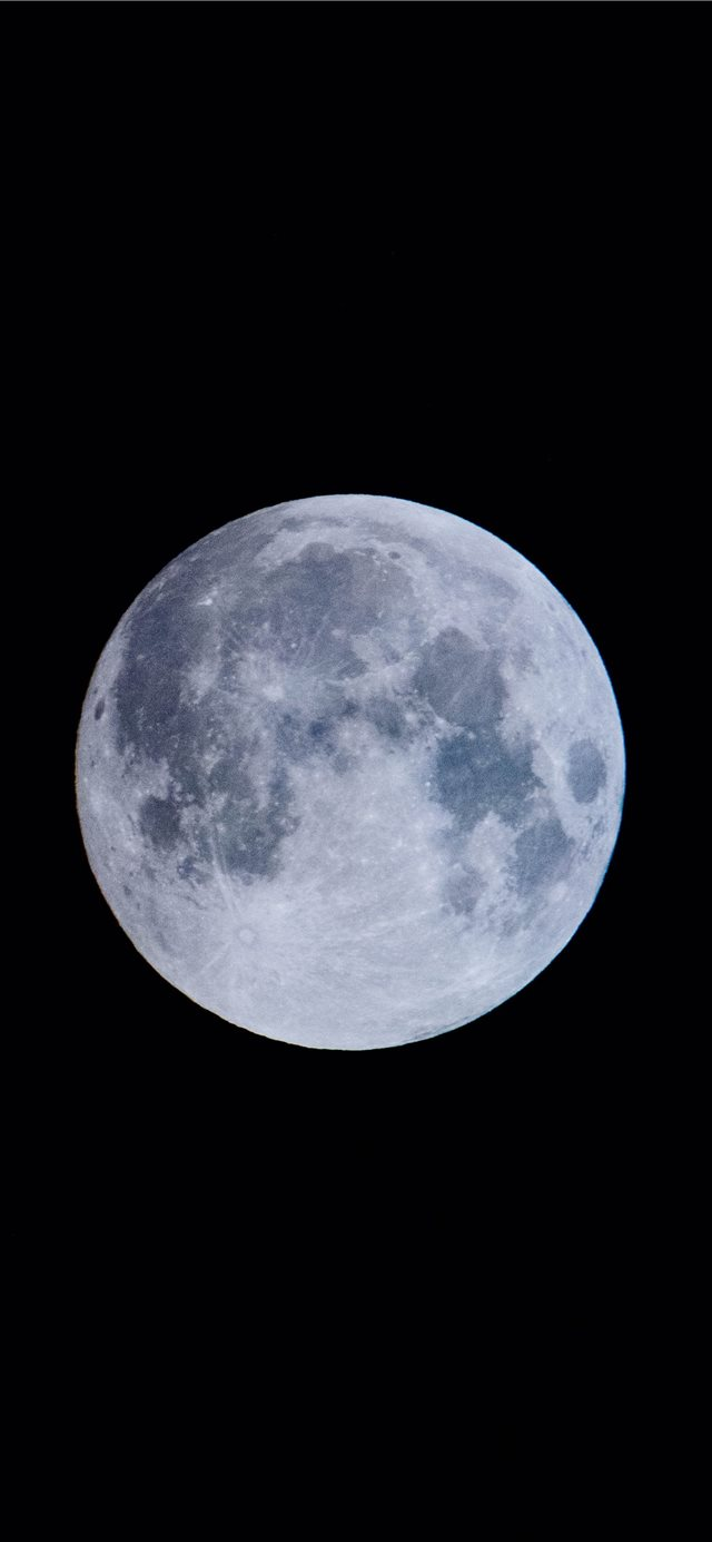 blue moon iPhone X wallpaper