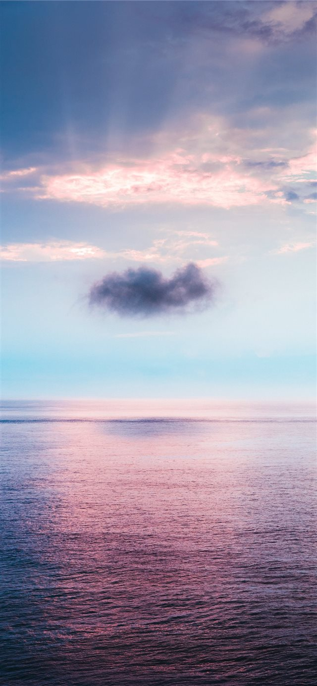 cloud above ocean iPhone X wallpaper
