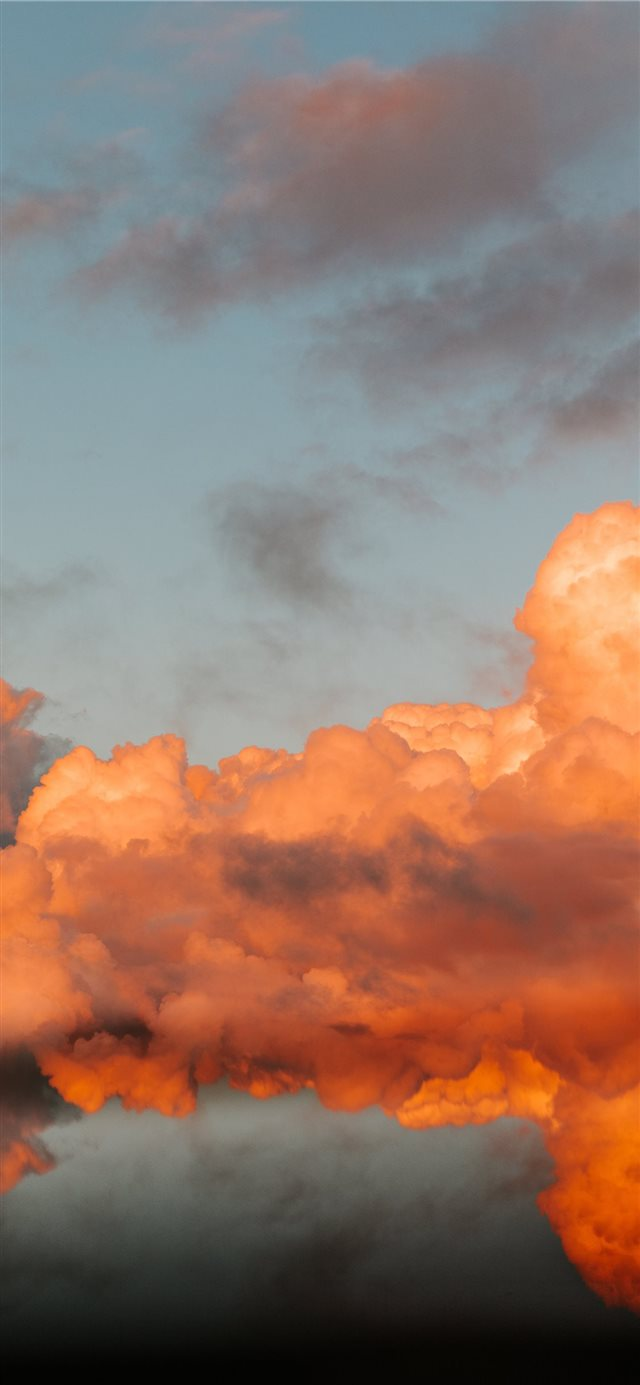 orange and blue cloudy sky iPhone X wallpaper
