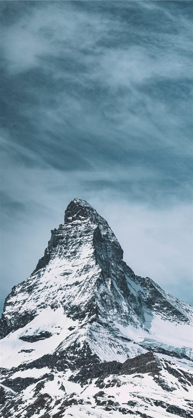 snow capped mountain during daytime iPhone X wallpaper