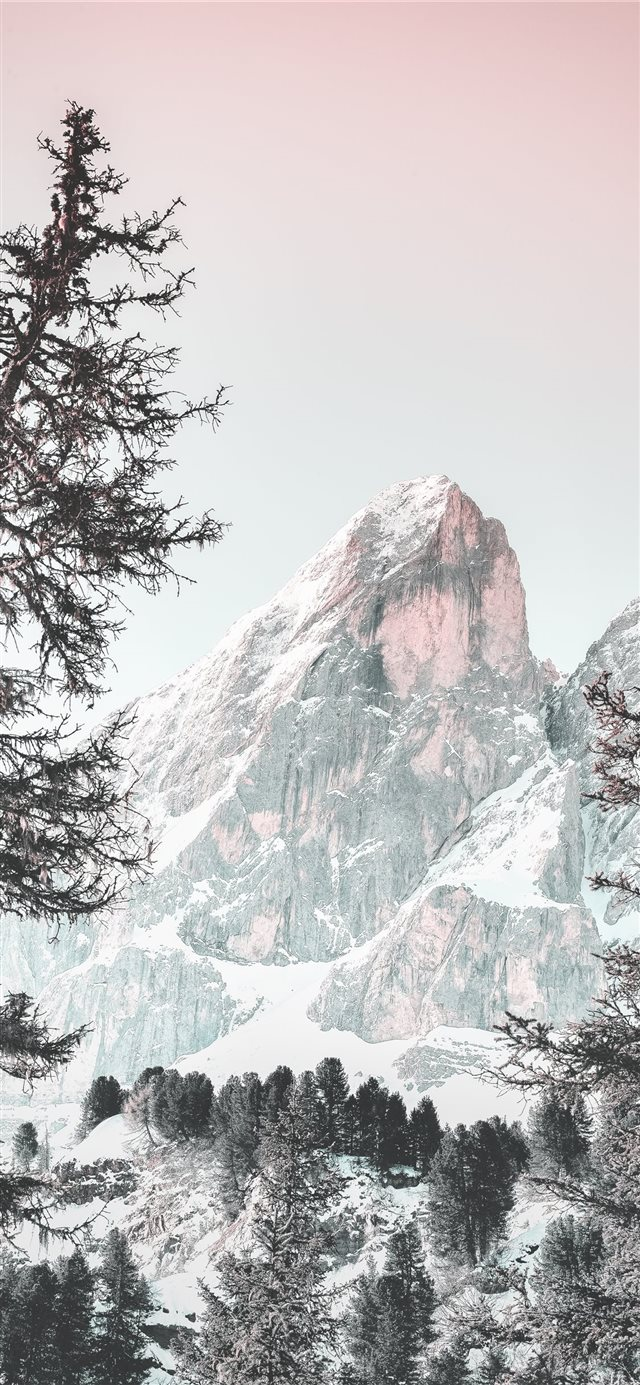 snowcaped mountain during daytime iPhone 11 wallpaper