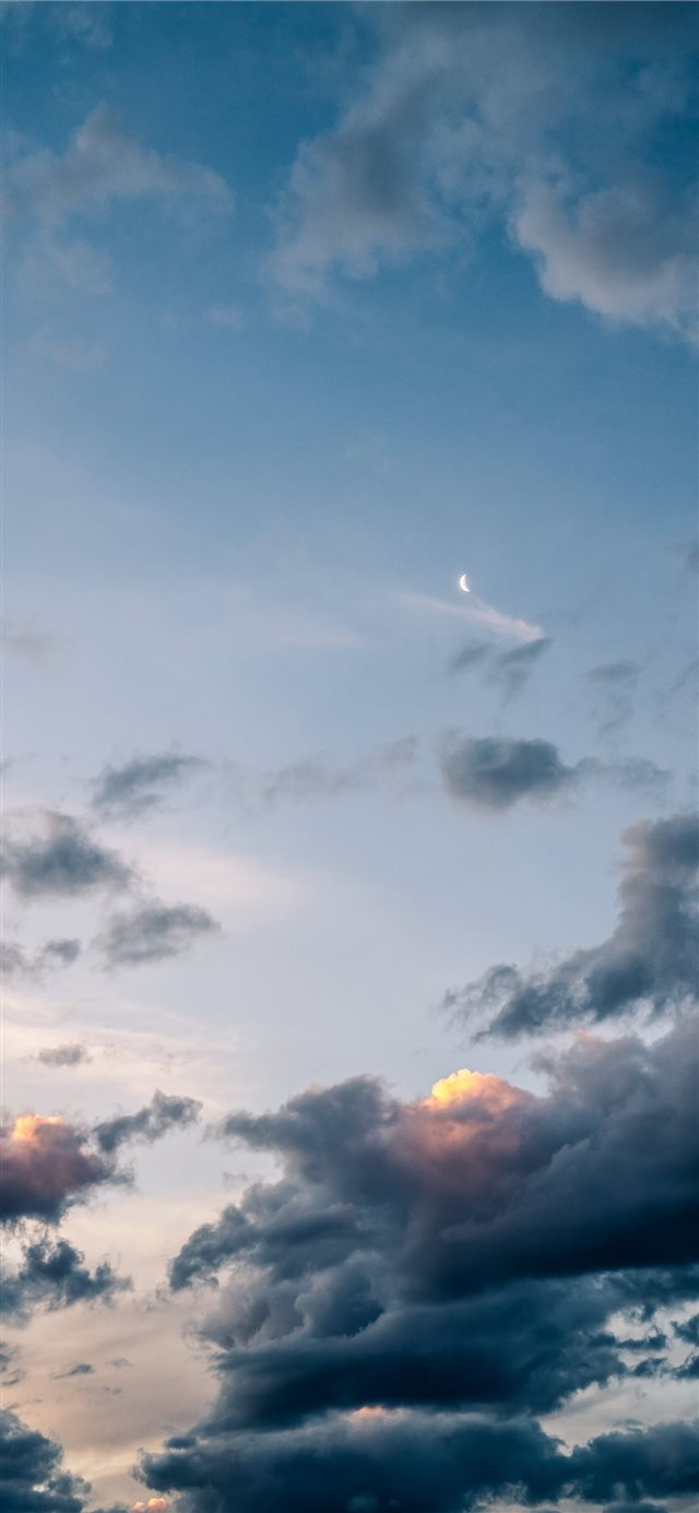 white clouds iPhone 11 wallpaper