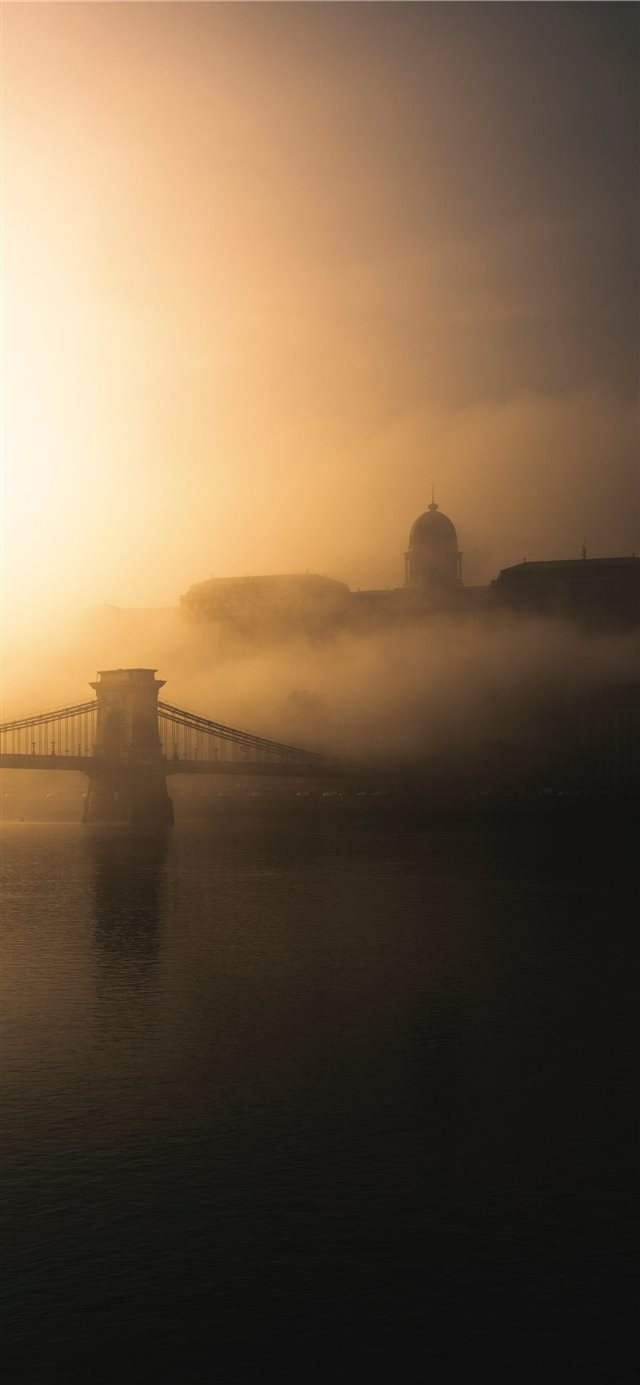 Beyond The Lights Foggy morning in Budapest Hungar... iPhone X wallpaper