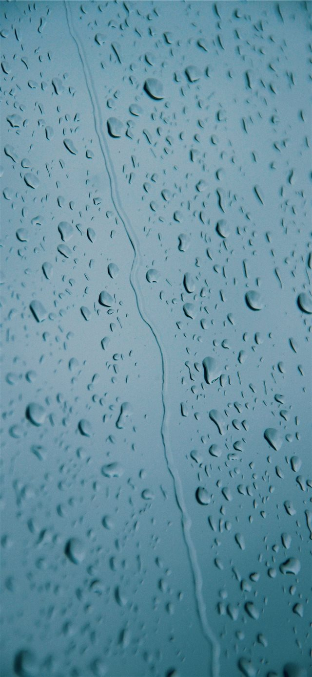 water drops on glass panel iPhone 11 wallpaper