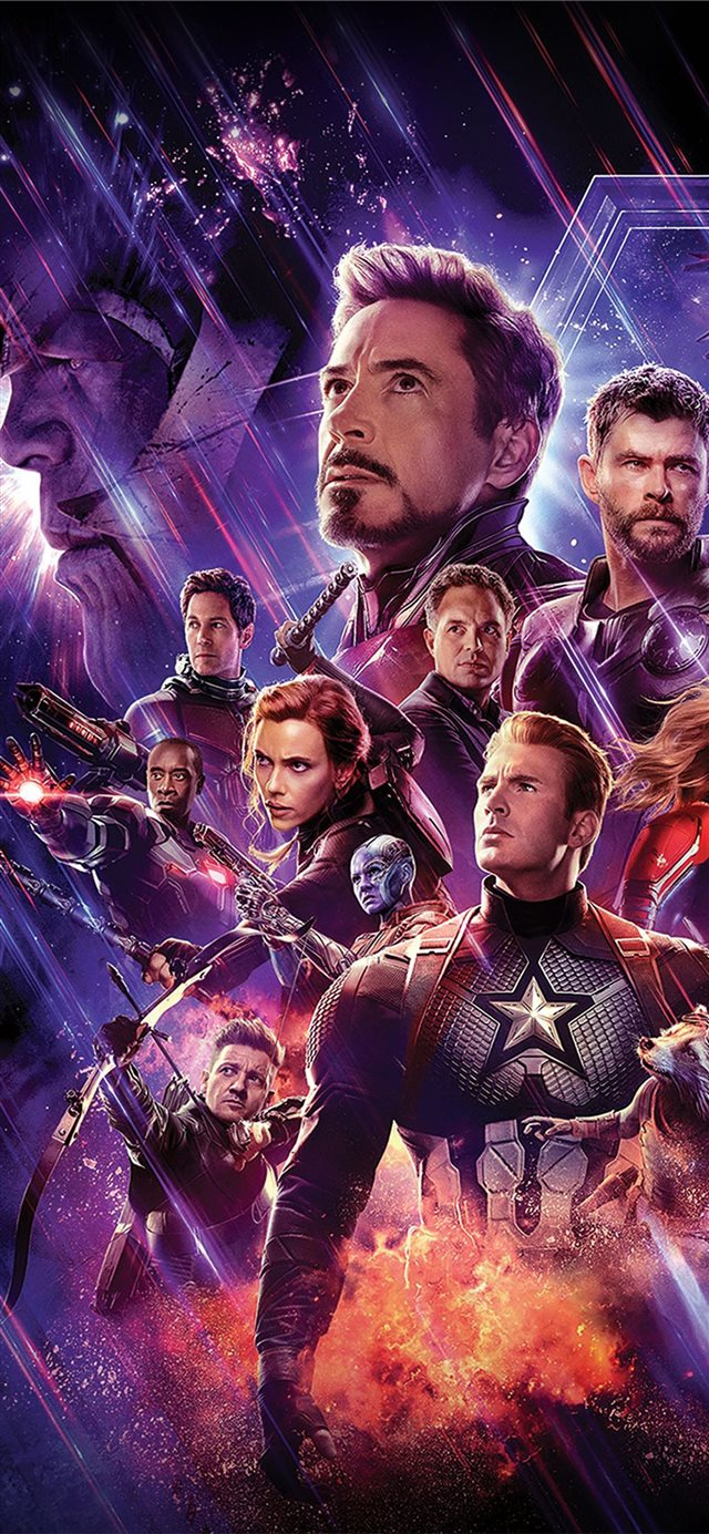 avengers end game 4k banner iPhone X wallpaper
