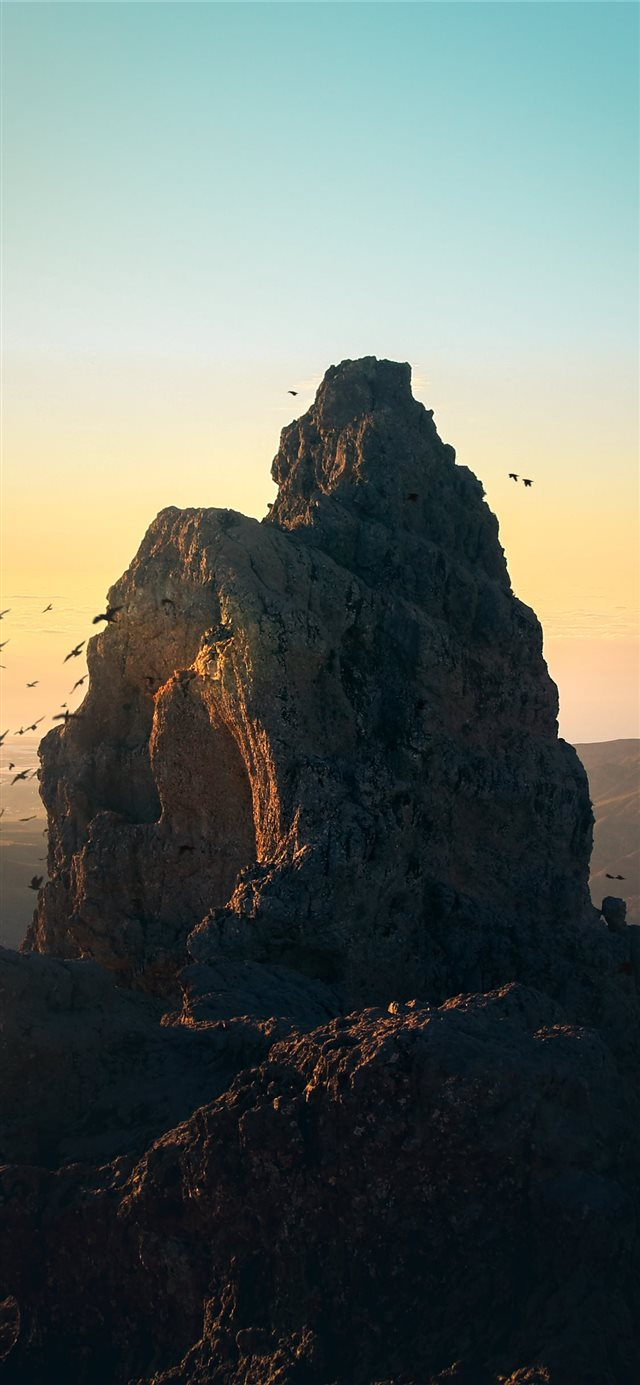 brown mountain iPhone X wallpaper