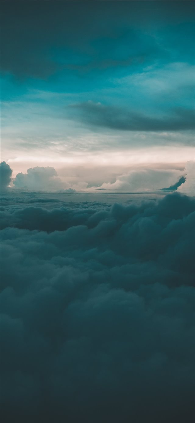 cloudy sky during day time iPhone X wallpaper