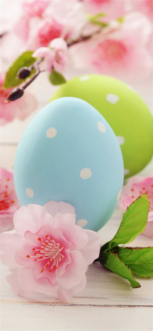 Easter eggs Flowers 5K Celebrations 5569 iPhone 11 wallpaper