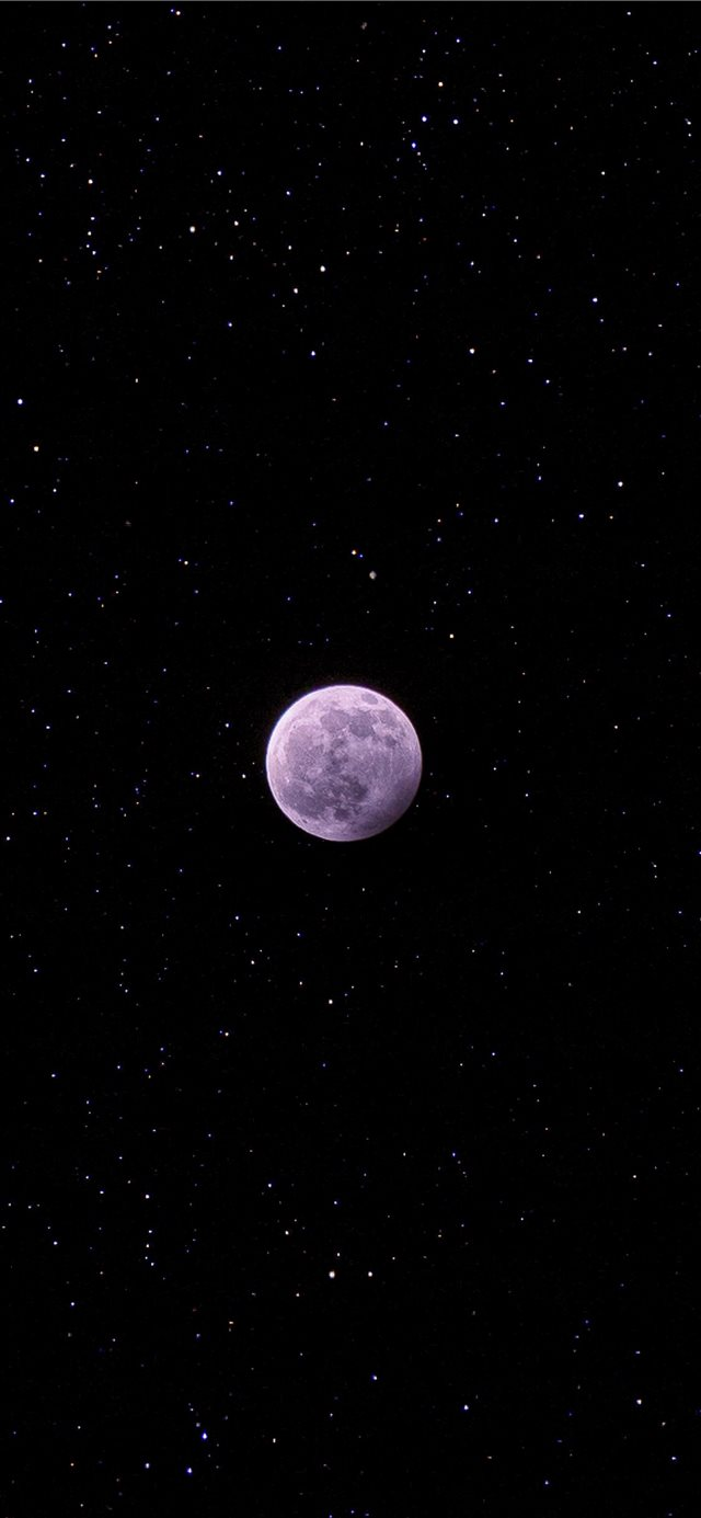 full moon during night iPhone X wallpaper