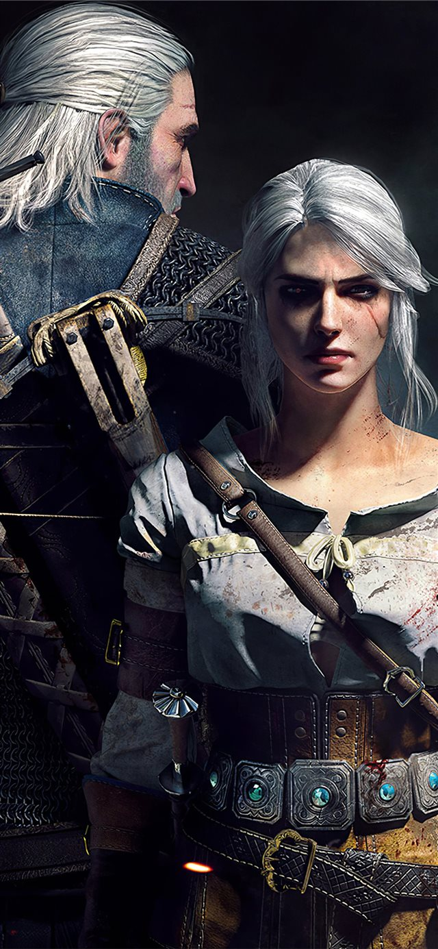 geralt ciri the witcher 3 5k iPhone 11 wallpaper
