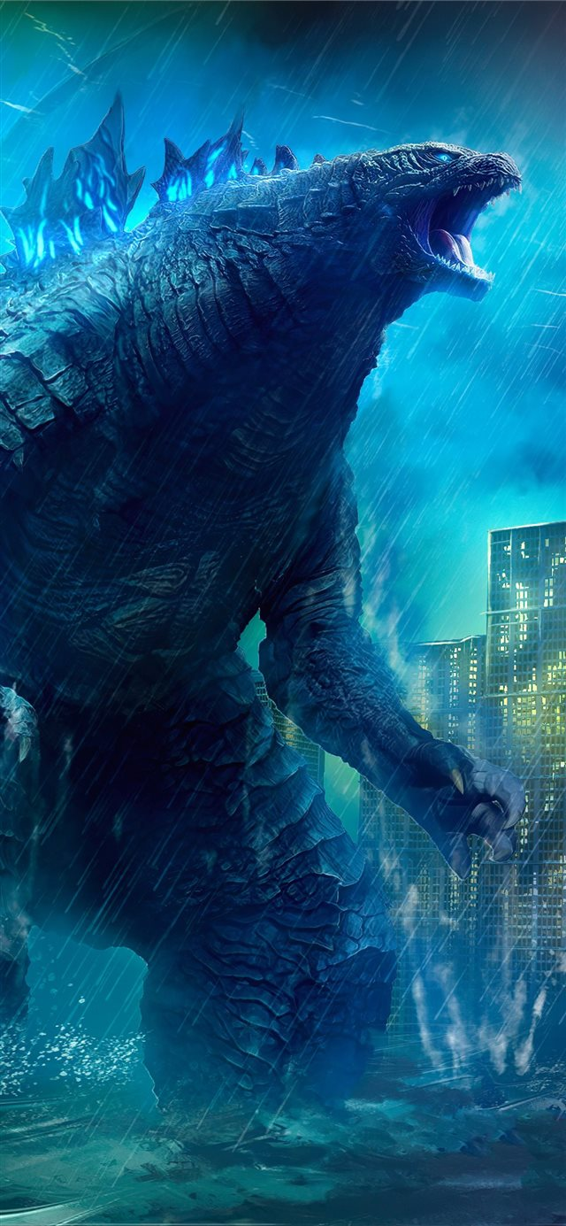 godzilla king of the monsters movie 4k art iPhone X wallpaper