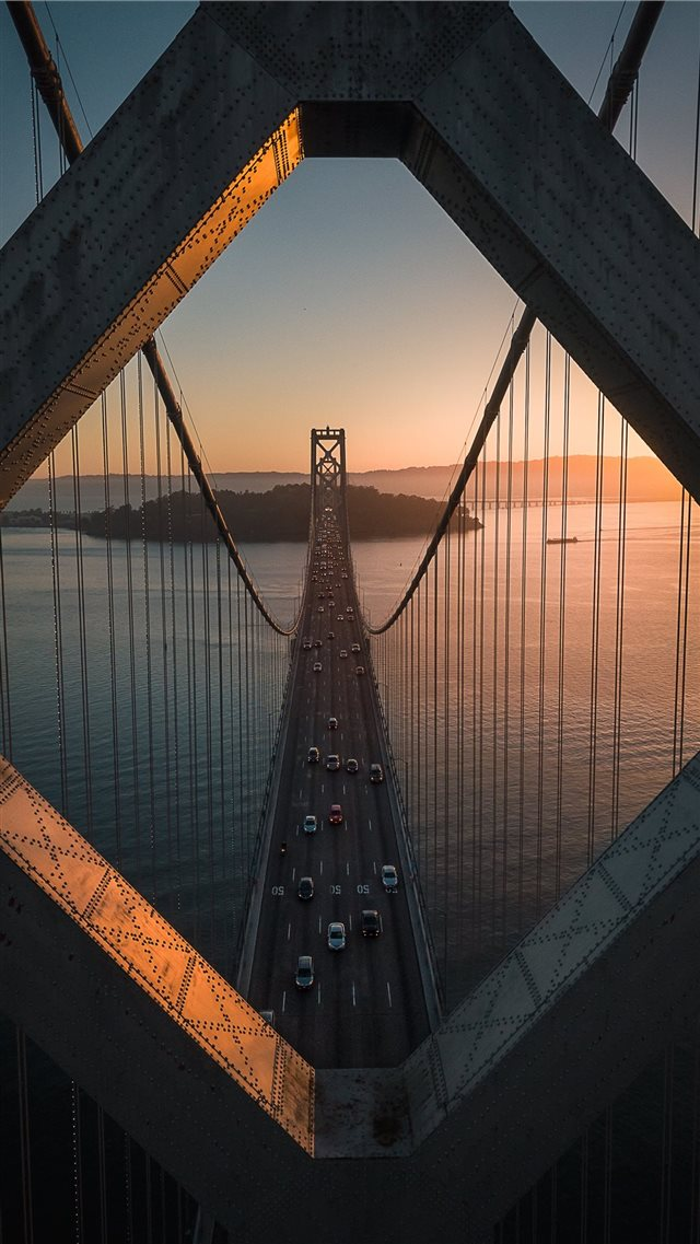 grey metal bridge iPhone SE wallpaper