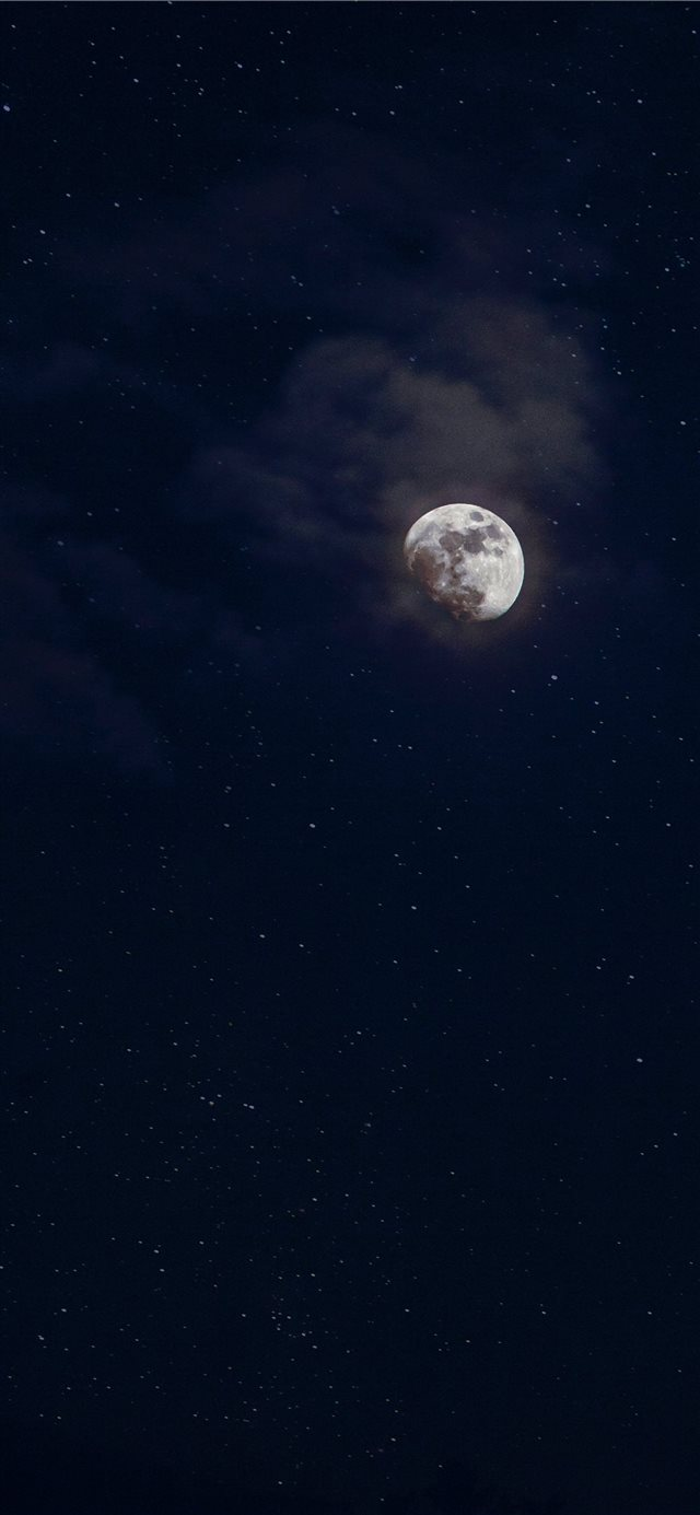 low angle photography of moon iPhone 11 wallpaper