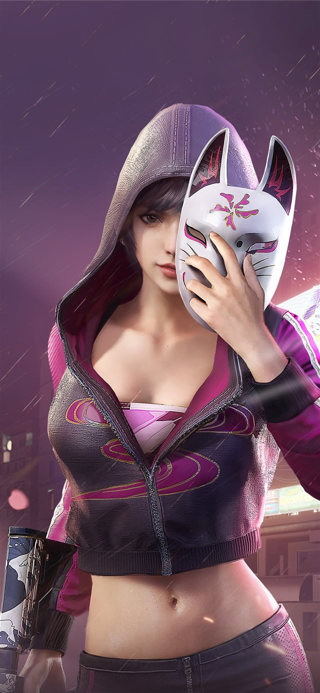 pubg girl 4k 2020 iPhone X wallpaper
