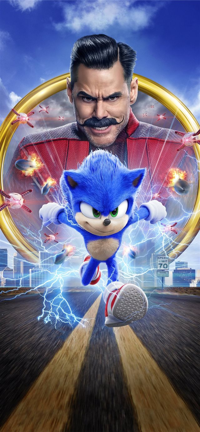 sonic the hedgehog movie 8k iPhone X wallpaper