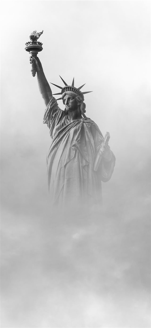 Statue of Liberty New York iPhone X wallpaper