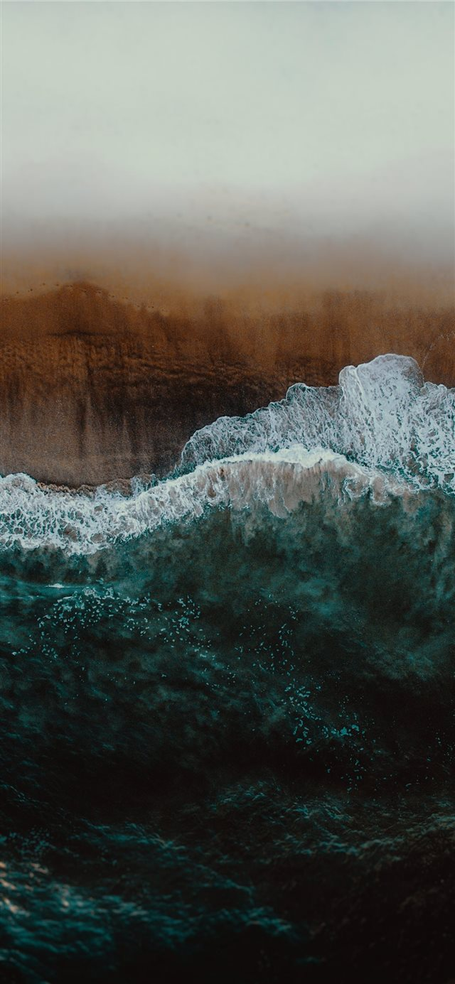 wave of water painting iPhone X wallpaper
