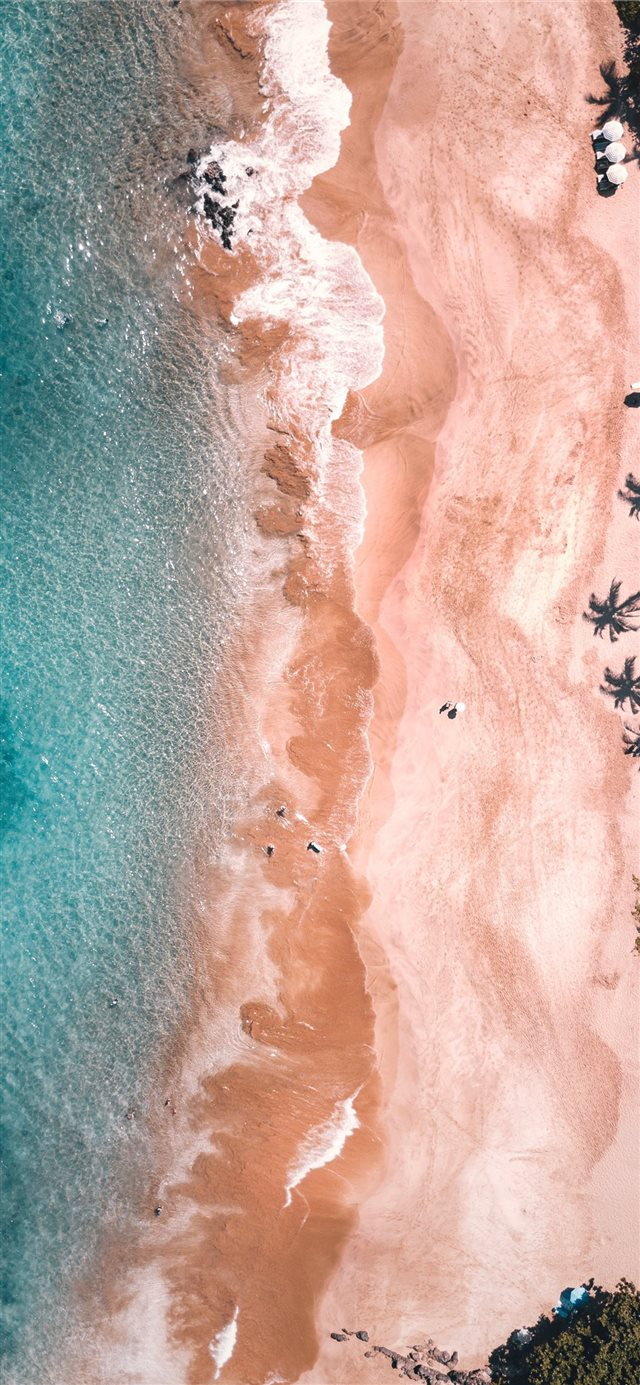 aerial view of ocean iPhone X wallpaper