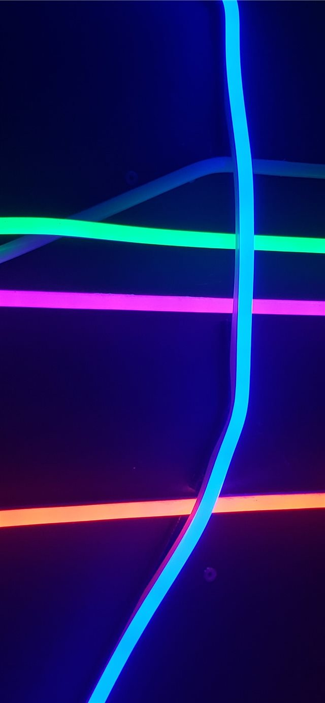 assorted color neon lights iPhone 11 wallpaper