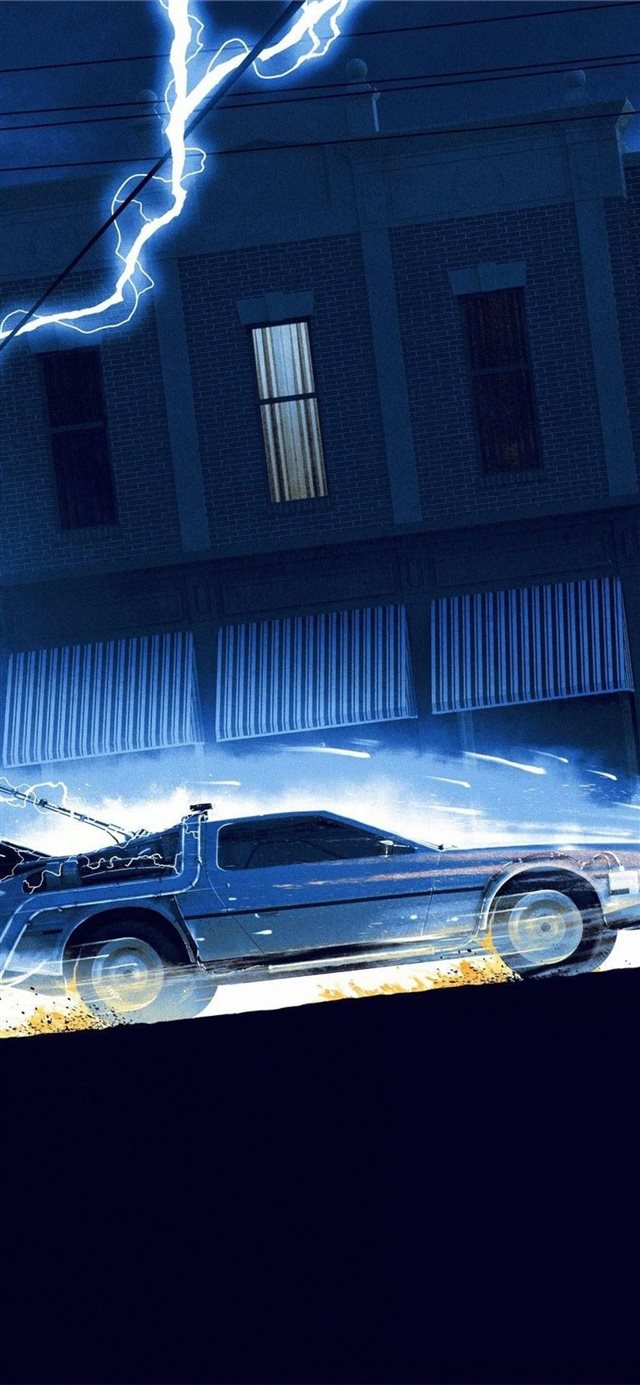 back to the future 1985 iPhone X wallpaper