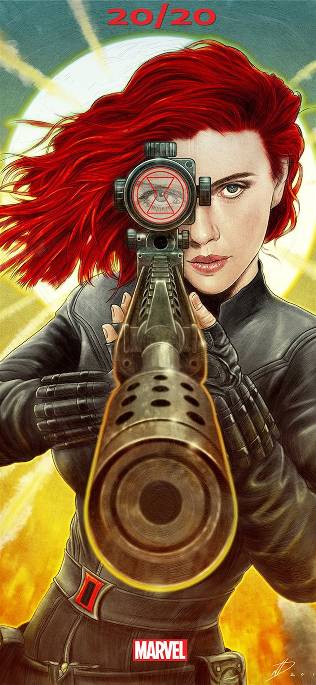 black widow 2020 movie poster iPhone X wallpaper