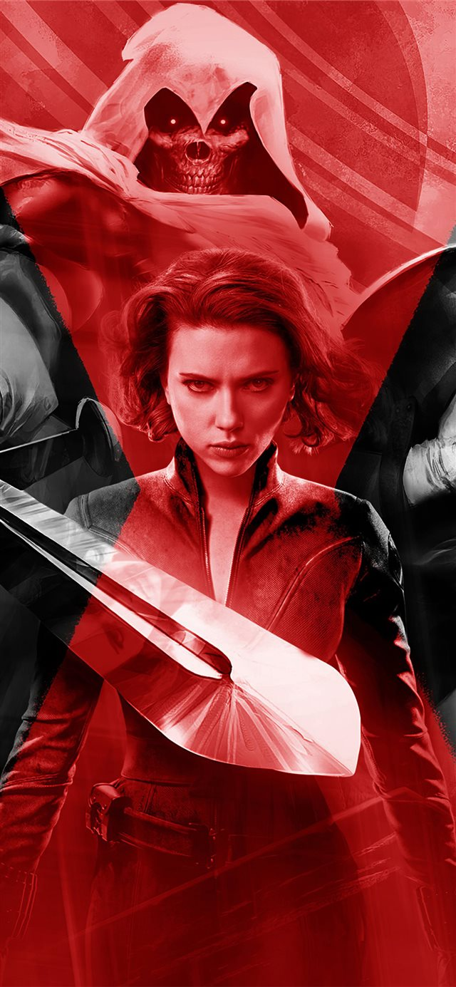 black widow movie 2020 4k iPhone X wallpaper