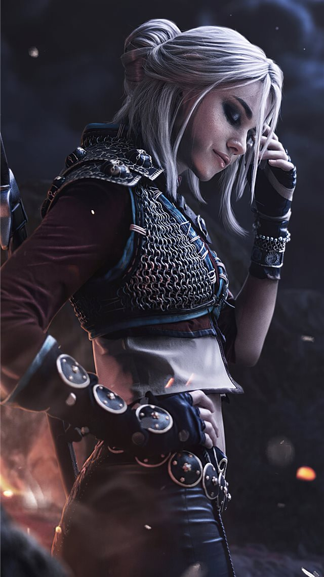 ciri witcher cosplay 4k iPhone 8 wallpaper