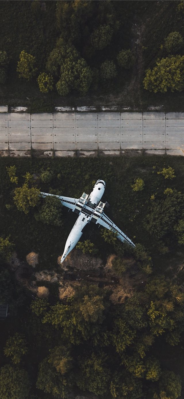 drone over road iPhone 11 wallpaper