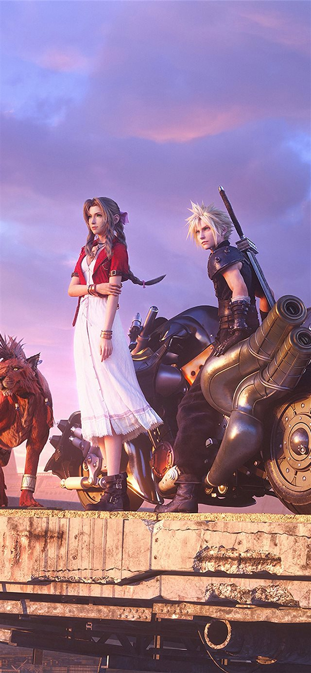 final fantasy vii 5k iPhone X wallpaper