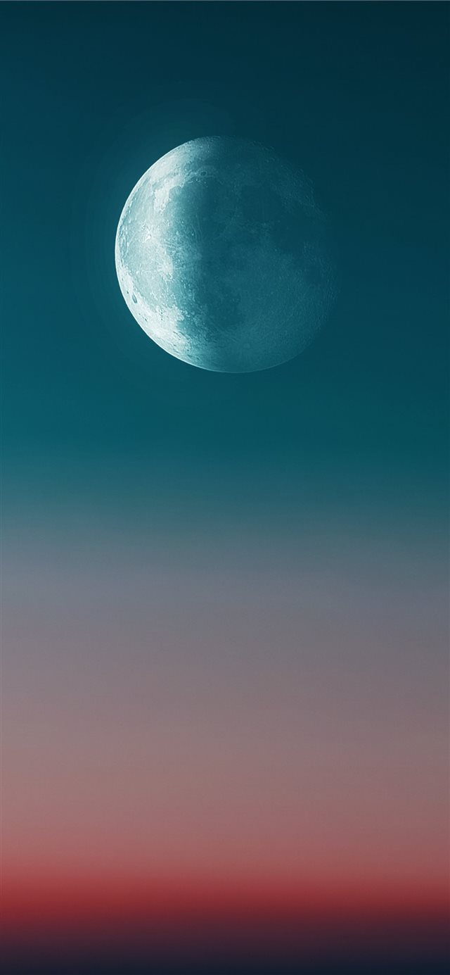 full moon during day iPhone 11 wallpaper