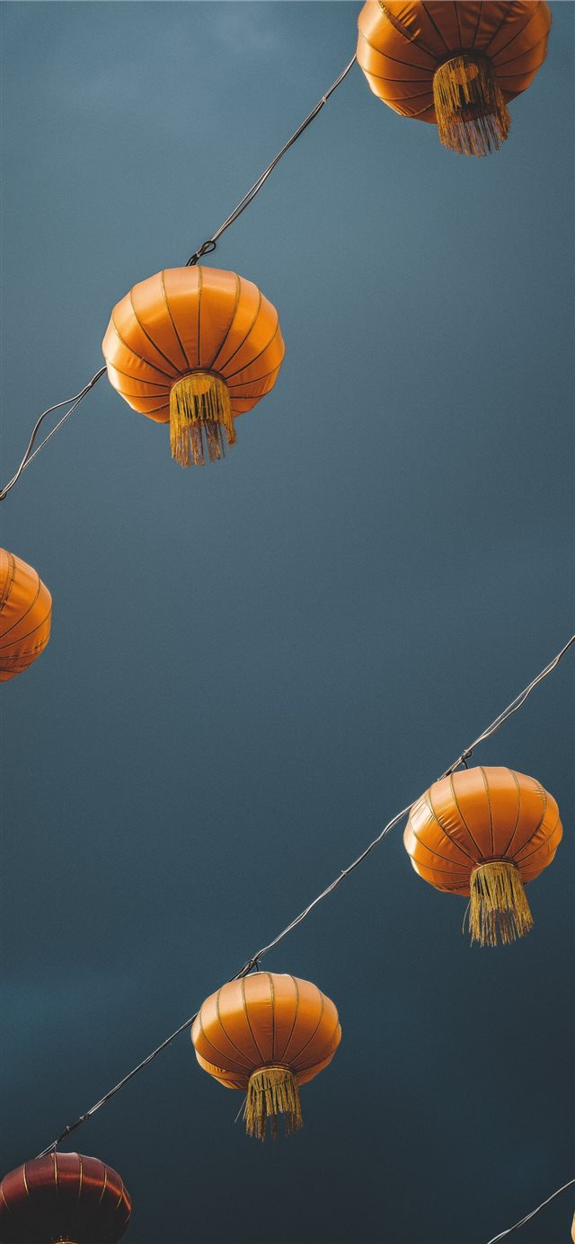 low angle photography of lantern iPhone 11 wallpaper