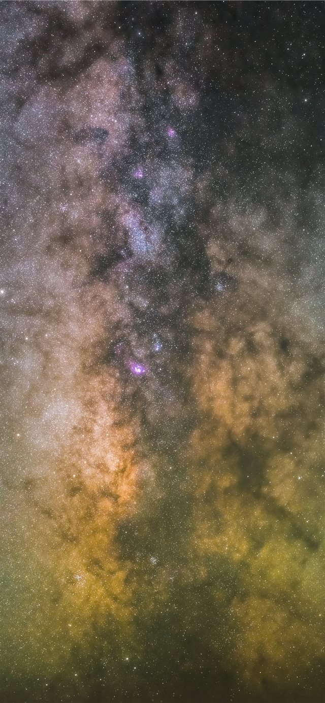 Milky Way iPhone X wallpaper