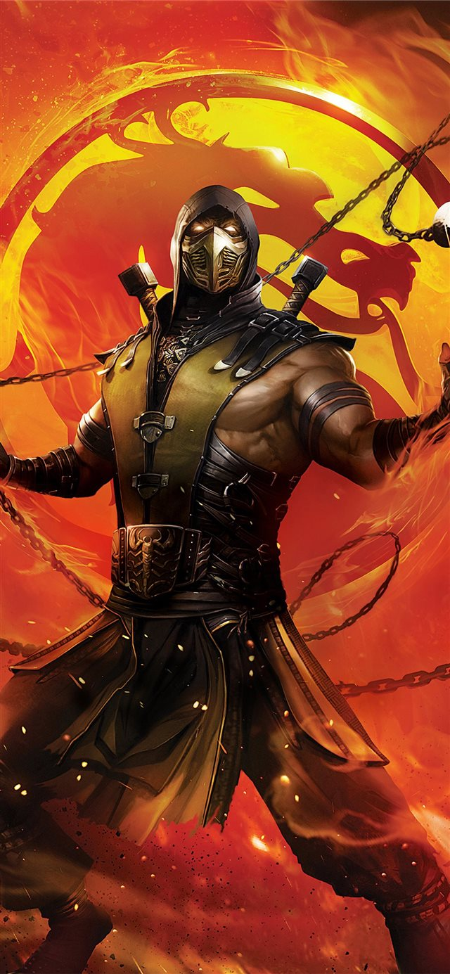 mortal kombat legends scorpions revenge 2020 iPhone X wallpaper
