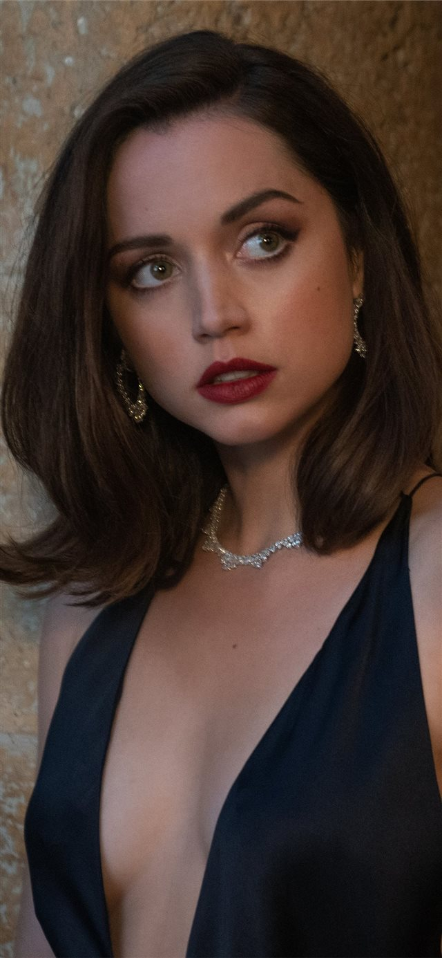 no time to die 2020 ana de armas iPhone X wallpaper