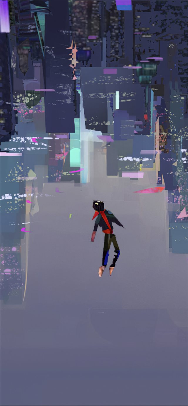 spiderman into the spider verse art 4k iPhone X wallpaper