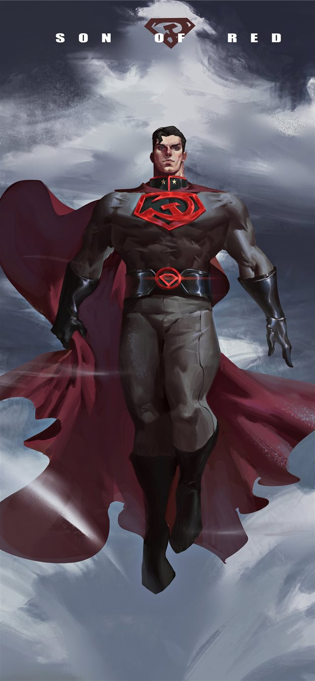 superman red son 2020 4k iPhone X wallpaper