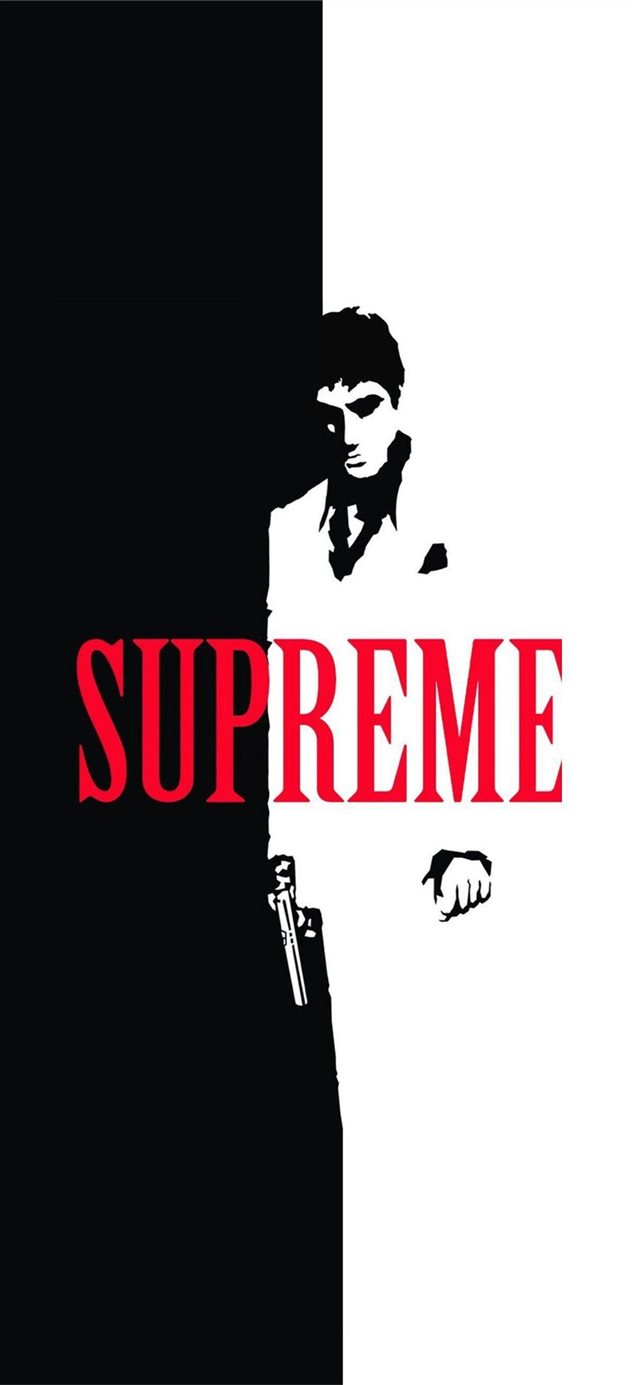 Supreme Cave iPhone X wallpaper