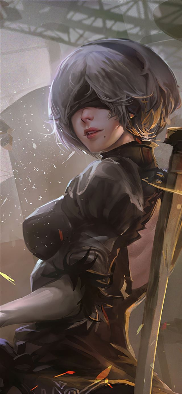 2b nier automata 4k 2020 iPhone X wallpaper