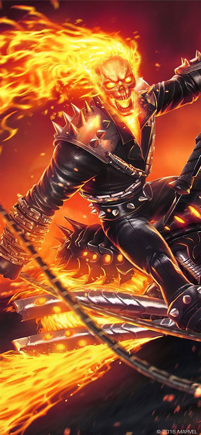 4k ghost rider contest of champions iPhone X wallpaper