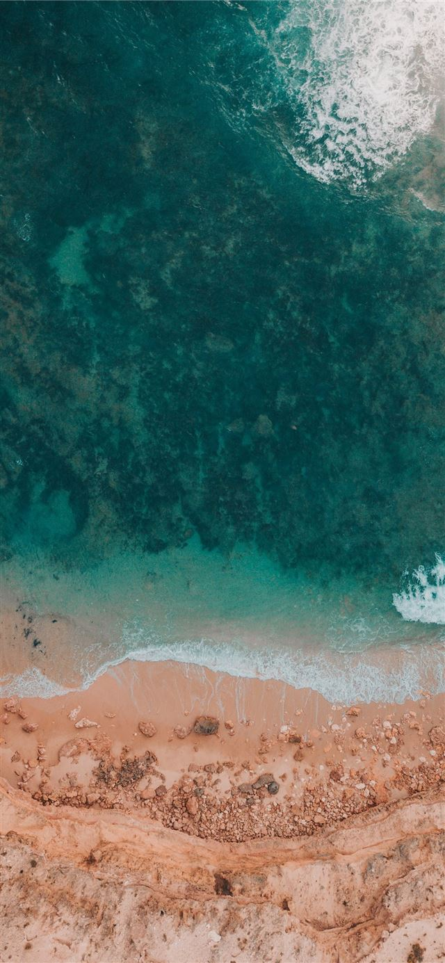 aerial photography of shore iPhone 11 wallpaper