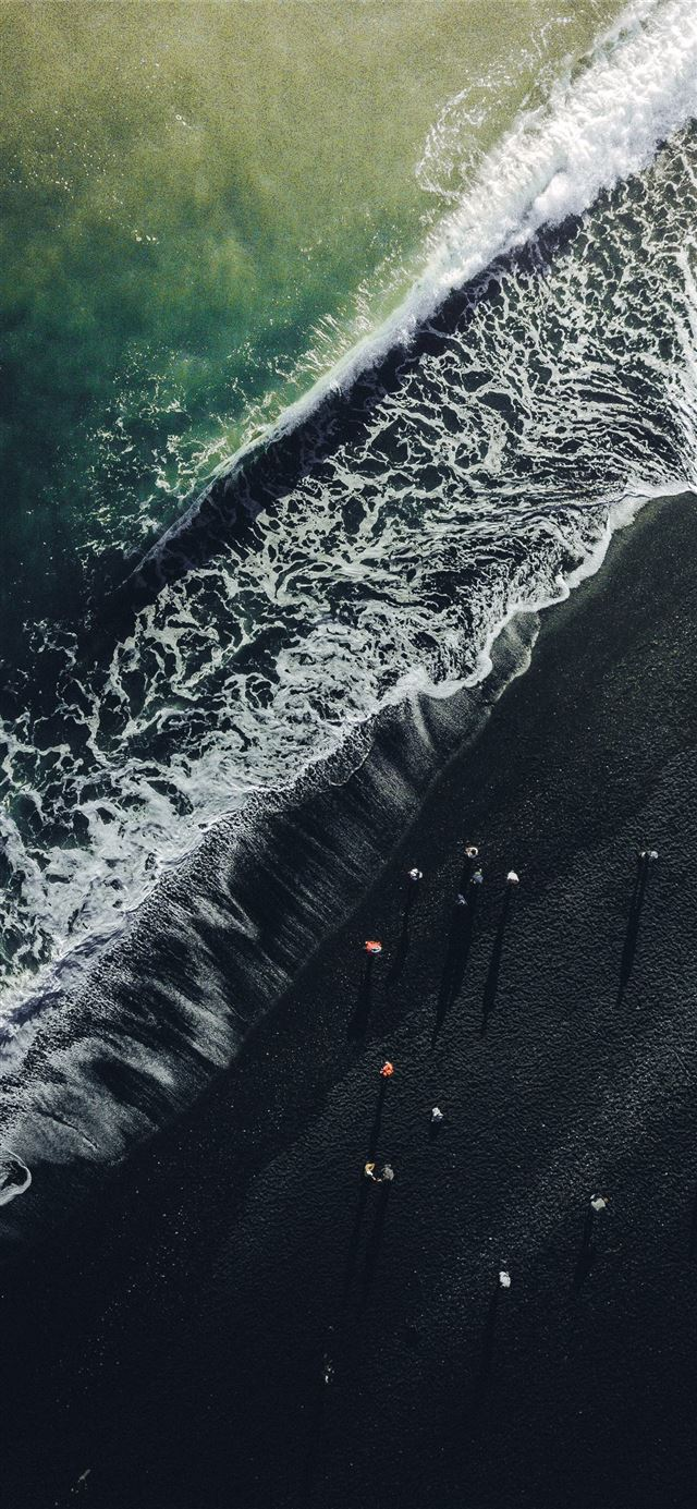 aerial view photography of beach iPhone 11 wallpaper